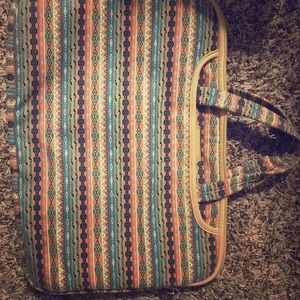 Laptop and school bag or briefcase